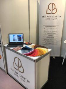 Stand de Leather Cluster Barcelona a la Fira UdL Treball